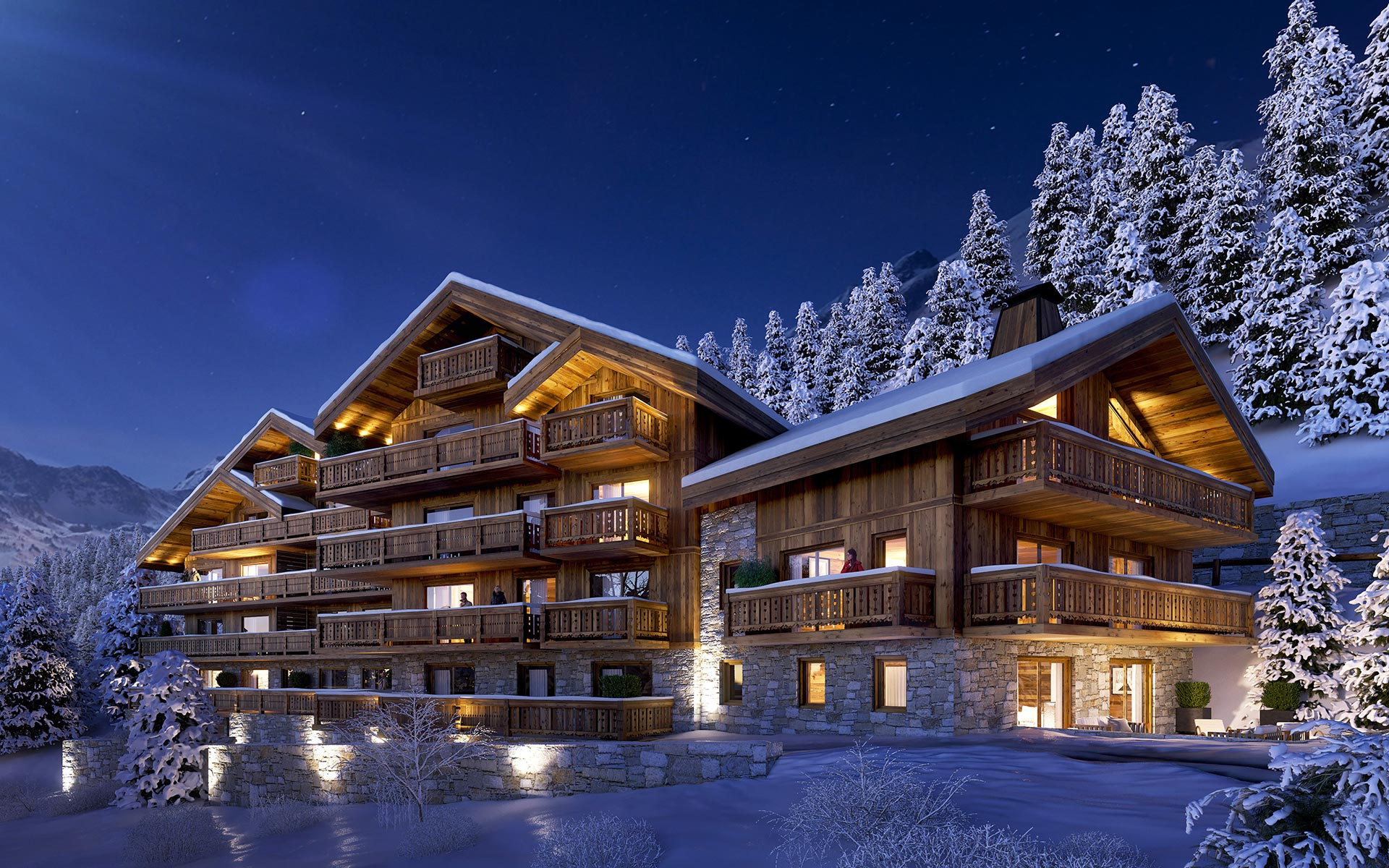 3D visualization of a Chalet - News Valentinstudio