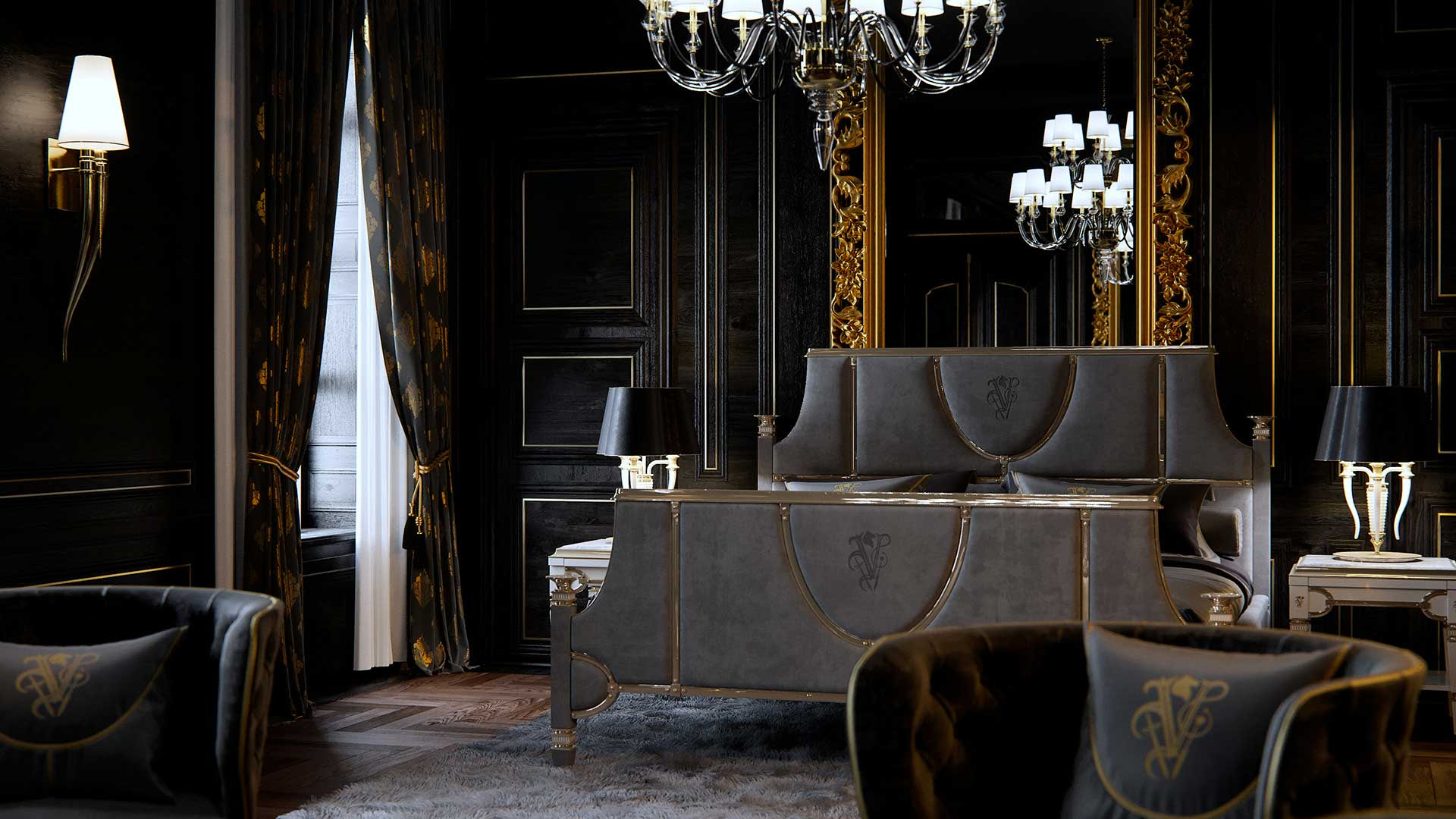 3D shooting : luxurious room.