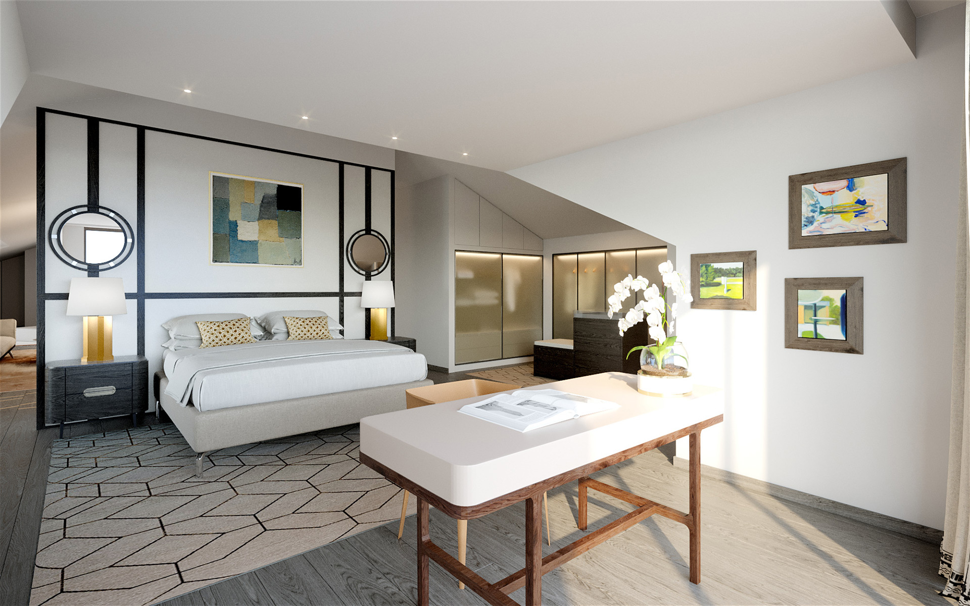 3D Photo of a room for villa real estate development
