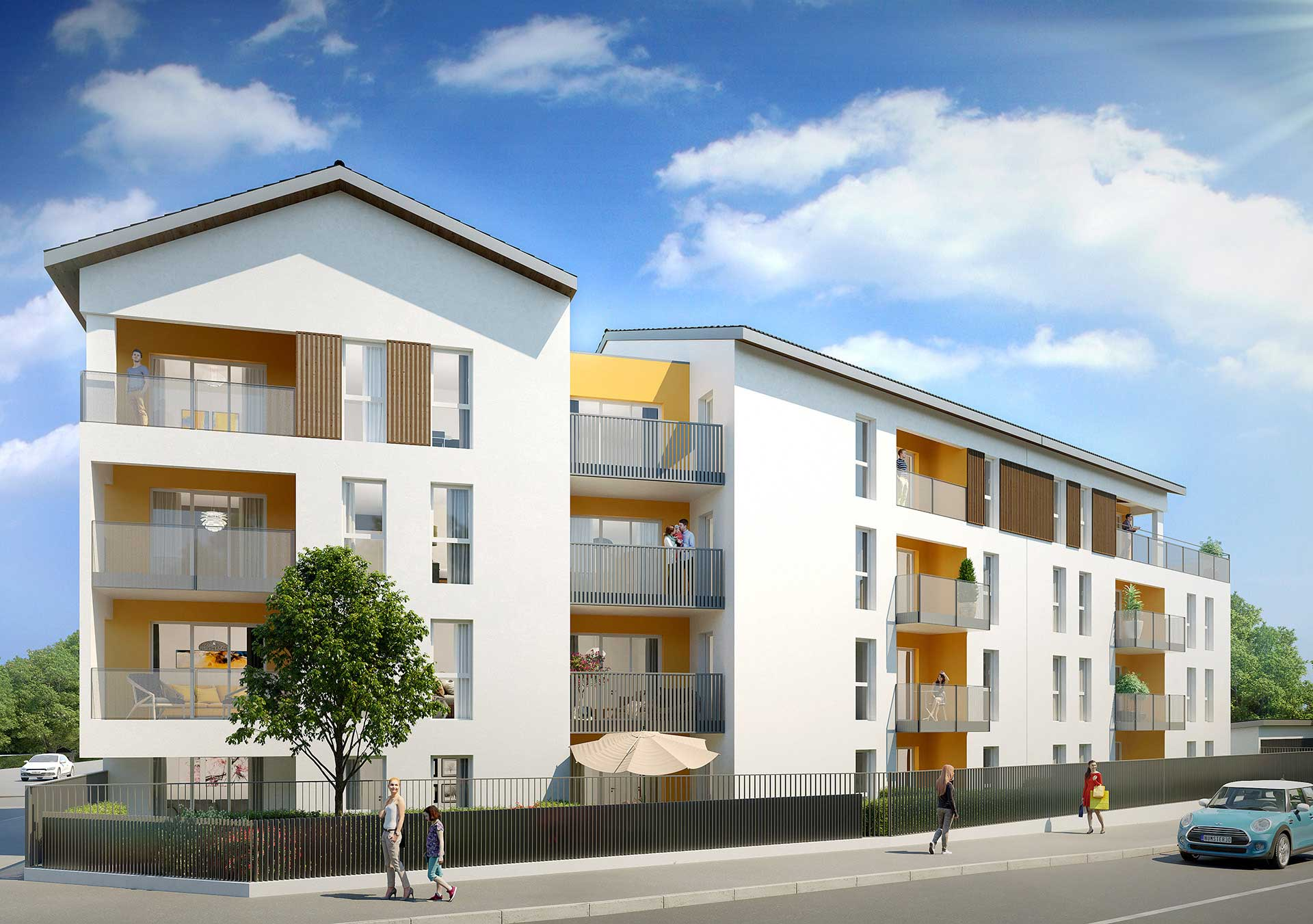 3D Still image of a new housing (3D computer generated imagery).