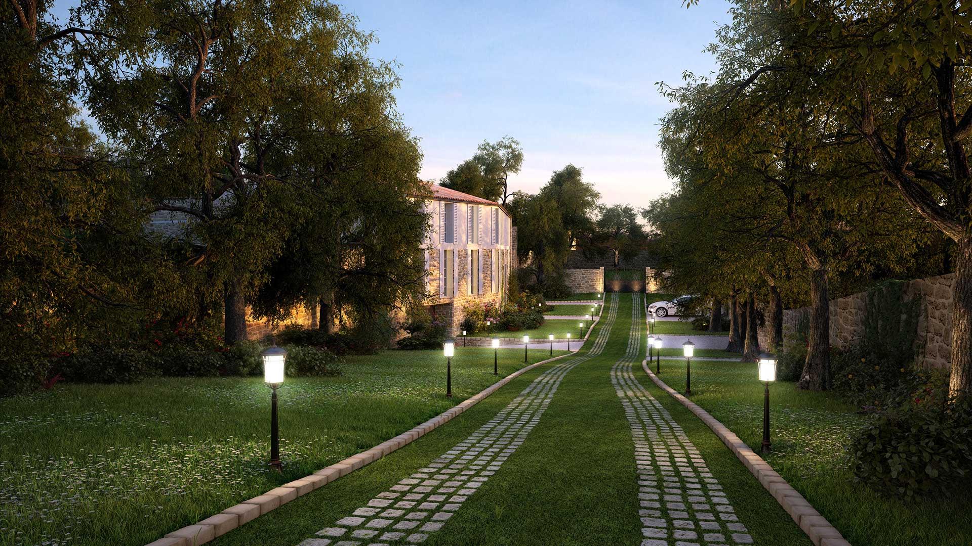 3D Photograph of a luxurious real estate project in Île-de-Ré
