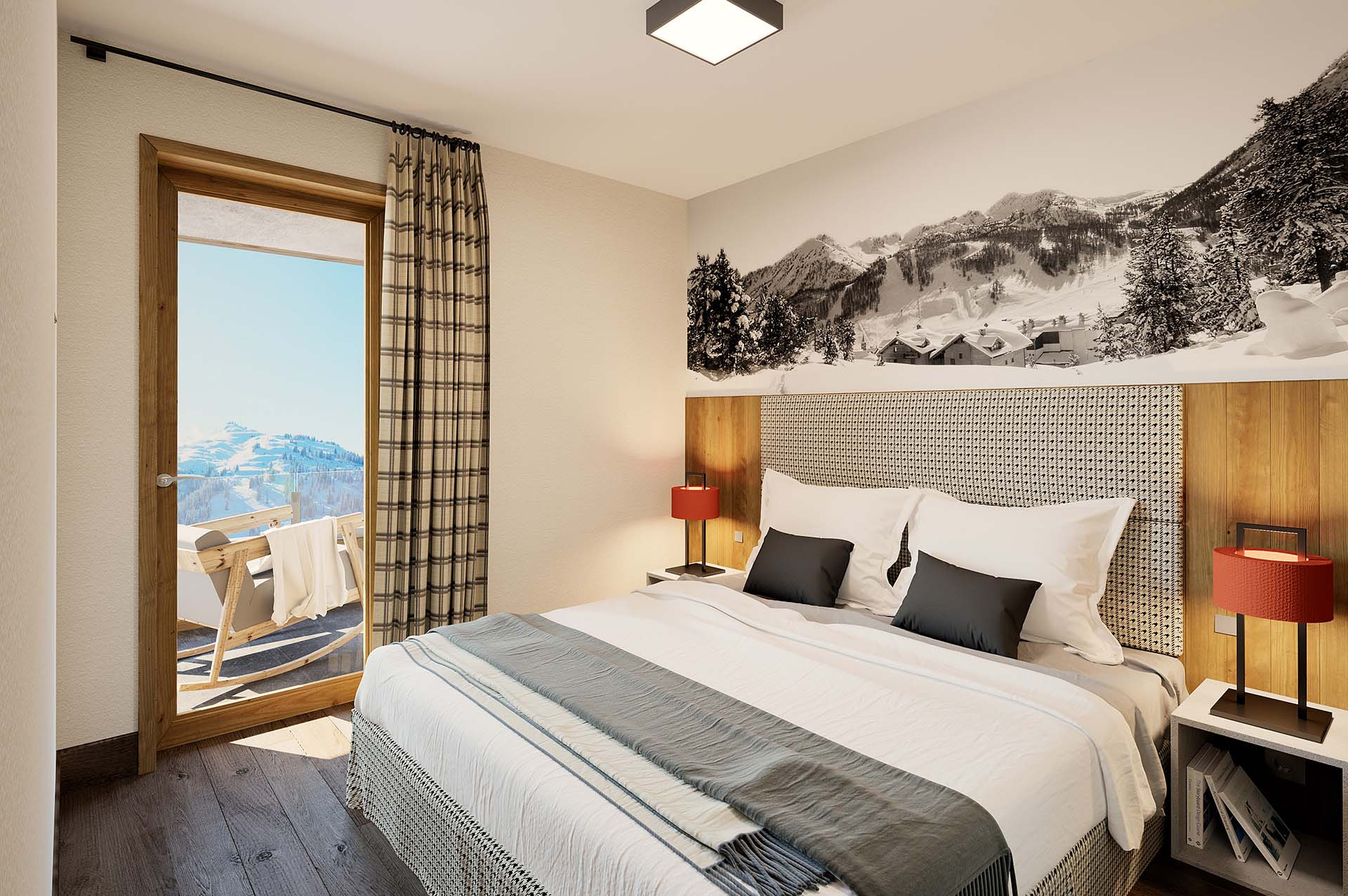 Creation 3D luxurious room for real estate promotion.