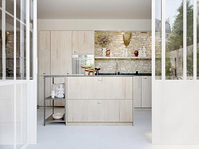Light wood kitchen made by Valentinstudio, 3D specialist