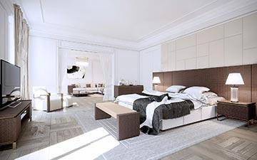 Création d'image 3D de chambre pour un projet de villa de luxe