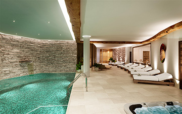 3D render of a spa in a luxury hotel