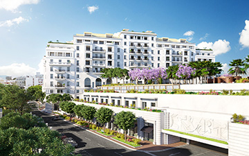 3D architectural visualization of a hotel in Cannes