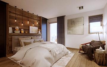 Image promotionnelle d'une chambre de chalet de luxe à Méribel