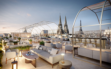 Rooftop 3D visualization in paris made by Valentinstudio