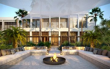 3D visualization a villa exterior in Morocco