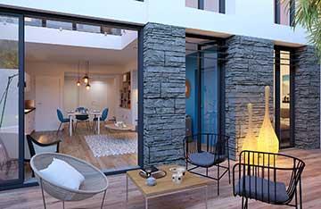 Création d'une terrasse en 3 dimensions - projet immobilier 3D