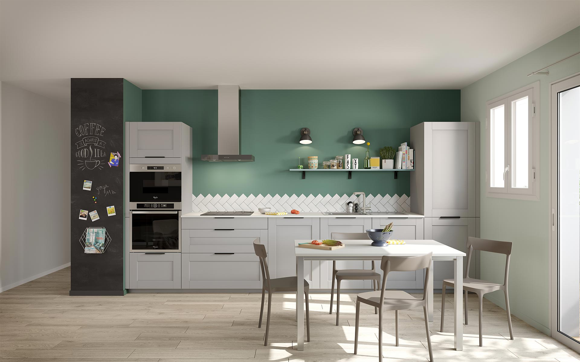 3D image of a kitchen created by Valentinstudio