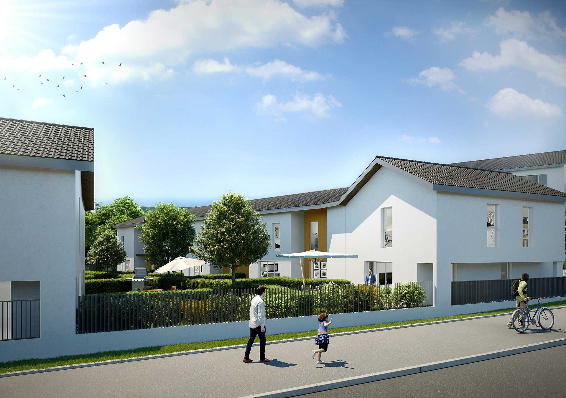 Photo de logement neuf en trois dimension par l'agence de graphistes 3D Valentin Studio
