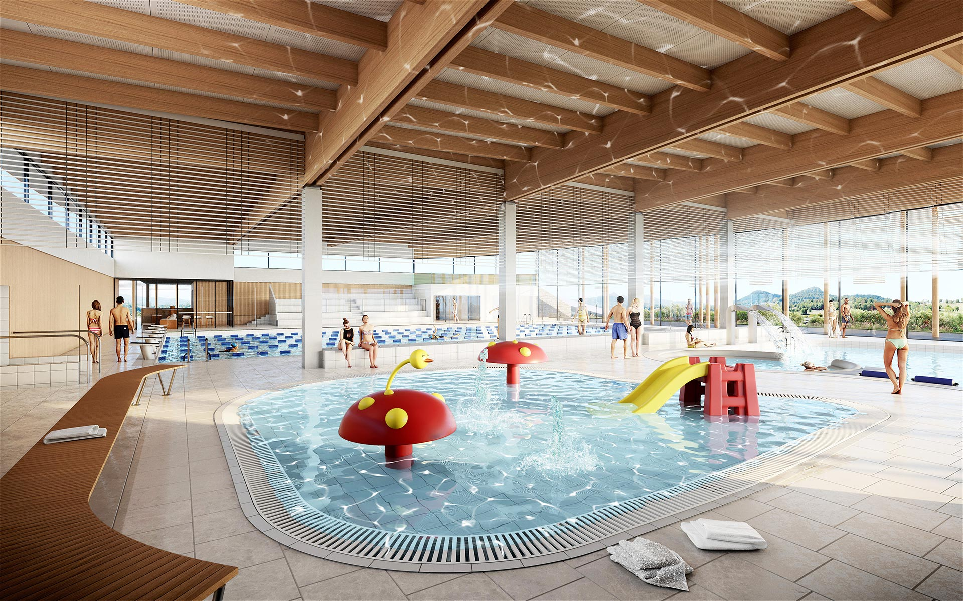3D interior visualization of a pool