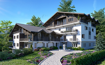 Mountain project - Chalet block 3D visualization