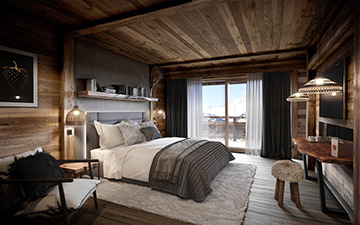 3D interior render creation for hotel promotion