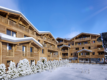 3D Realization - Exterior 3D perspective of a mountain resort
