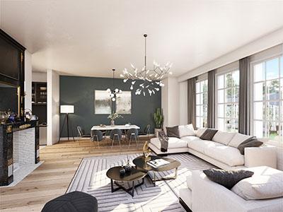 Image 3D des intérieurs d'un appartement neuf