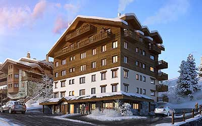 Creative agency producing a 3D perspective : 3D image of a luxurious chalet.