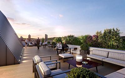 Réalisation d'un rooftop d'entreprise parisienne en 3D