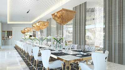 Rendu 3D promotion immobilière d'une villa ultra luxe.